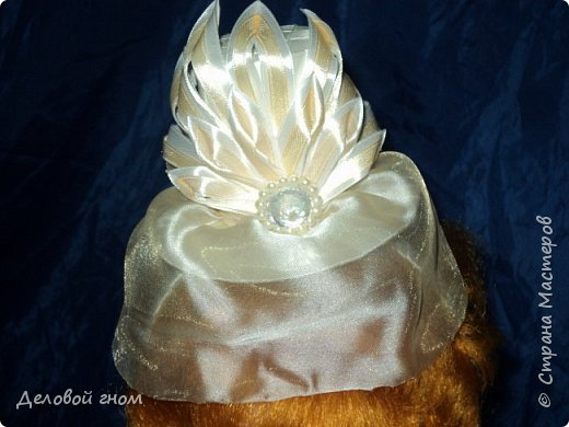 Дамская шляпка на обруче для девочек фото 1