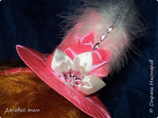 Дамская шляпка на обруче для девочек фото 5