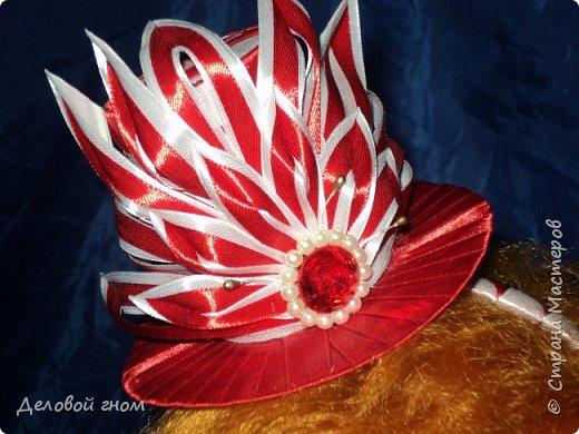 Дамская шляпка на обруче для девочек фото 4