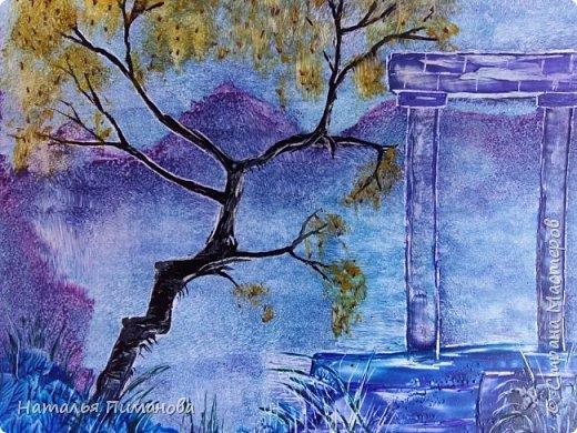 Здравствуйте,  дорогие жители СМ. Создалась серия картин с удивительными деревьями. Вдохновение получила, увидев яркие картины Энн Мари Боун из Великобритании. Она рисует красками, а у меня эти, чарующие деревья, выросли из под утюга с воском. фото 4