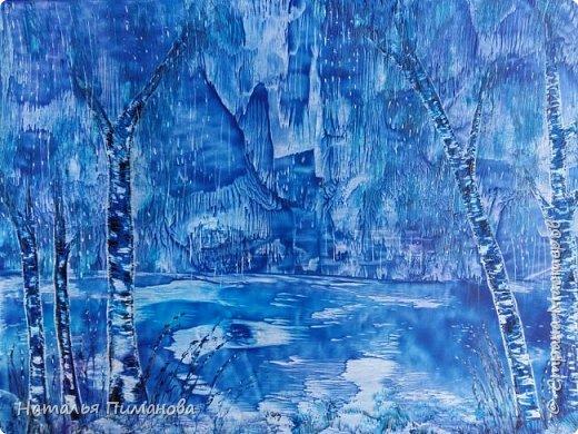 Здравствуйте,  дорогие жители СМ. Создалась серия картин с удивительными деревьями. Вдохновение получила, увидев яркие картины Энн Мари Боун из Великобритании. Она рисует красками, а у меня эти, чарующие деревья, выросли из под утюга с воском. фото 3