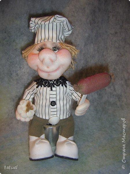 Всем добрый вечер!  Еще несколько новых работ.  Девчушка курносая с косичками.  Поросенок под ней покупной. фото 2