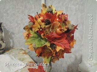 Осенний топиарий фото 2