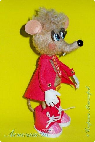 Доброе время суток,друзья! Знакомтесь! Мой маленький крысик по  имени КРЫСтофер! Прошу любить  и жаловать! Родился он благодаря МК ЖенечкиР, а значит ближайший родственник её подопечного. КРЫСтофер мужчина интеллигентный, яркий и  с хорошем чувством юмора! Предназначен для  поднятия отличного настроения хозяйке и её друзьям! фото 3