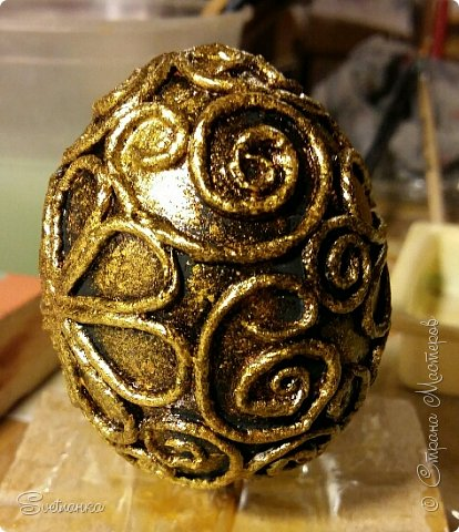 Впервые попробовала технику пейп-арт Татьяны Сорокиной http://stranamasterov.ru/user/151613 Декорировала яйца к Пасхе. Это яйцо было куплено в фикспрайсе, оно открывается и превращается в шкатулку)  фото 6