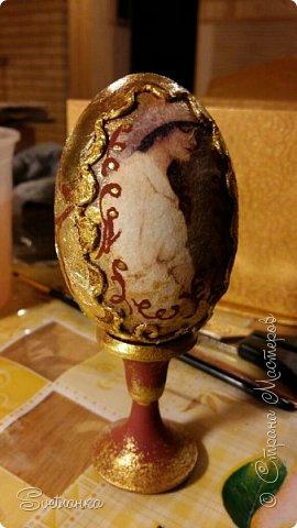 Впервые попробовала технику пейп-арт Татьяны Сорокиной http://stranamasterov.ru/user/151613 Декорировала яйца к Пасхе. Это яйцо было куплено в фикспрайсе, оно открывается и превращается в шкатулку)  фото 9