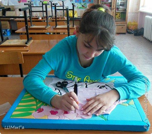 """Еще одна работа моей ученицы для районной выставки-конкурса """"Острова вдохновения"""". Лика выбрала для своей работы белого тигра. фото 10"""