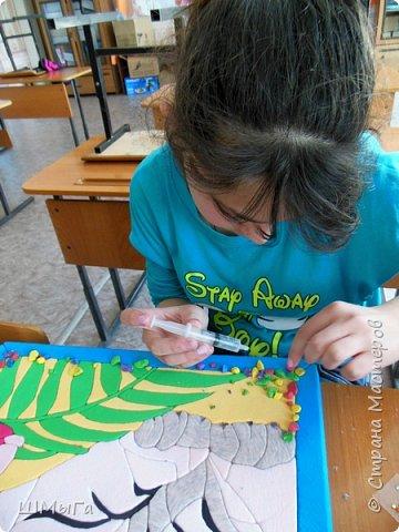 """Еще одна работа моей ученицы для районной выставки-конкурса """"Острова вдохновения"""". Лика выбрала для своей работы белого тигра. фото 12"""