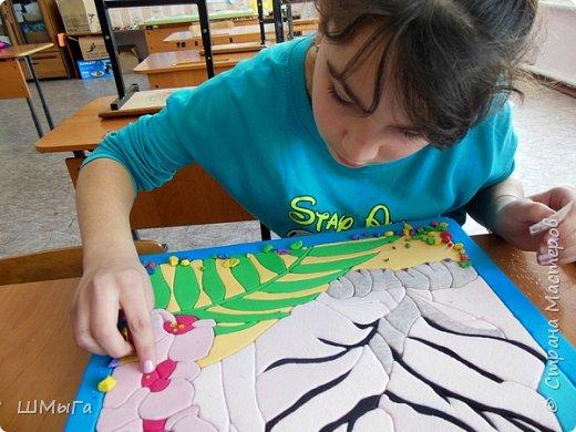"""Еще одна работа моей ученицы для районной выставки-конкурса """"Острова вдохновения"""". Лика выбрала для своей работы белого тигра. фото 13"""