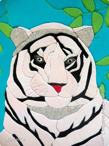 """Еще одна работа моей ученицы для районной выставки-конкурса """"Острова вдохновения"""". Лика выбрала для своей работы белого тигра. фото 3"""