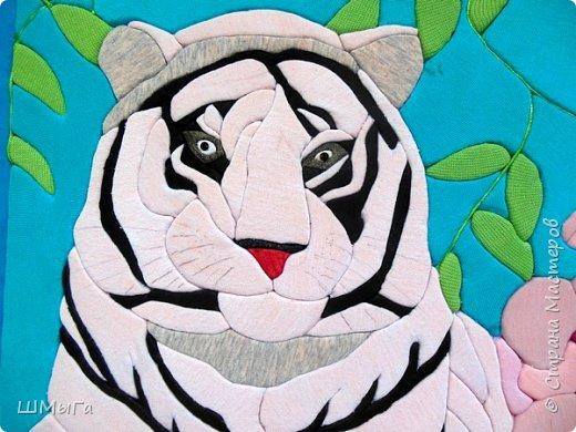 """Еще одна работа моей ученицы для районной выставки-конкурса """"Острова вдохновения"""". Лика выбрала для своей работы белого тигра. фото 4"""
