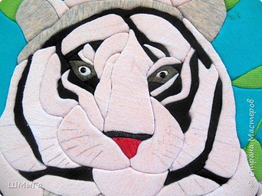 """Еще одна работа моей ученицы для районной выставки-конкурса """"Острова вдохновения"""". Лика выбрала для своей работы белого тигра. фото 5"""