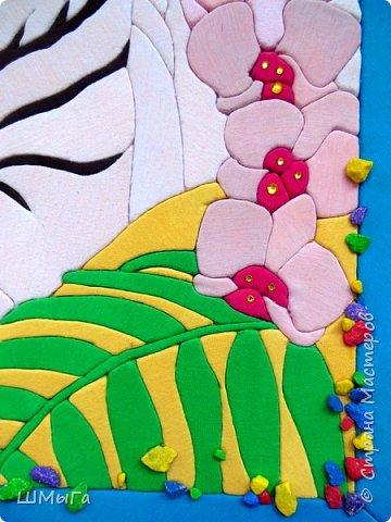 """Еще одна работа моей ученицы для районной выставки-конкурса """"Острова вдохновения"""". Лика выбрала для своей работы белого тигра. фото 6"""