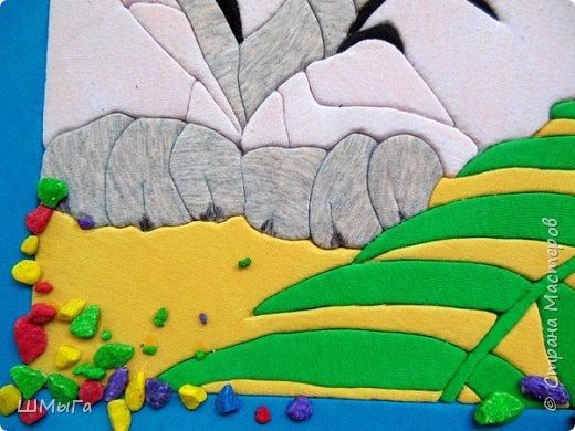 """Еще одна работа моей ученицы для районной выставки-конкурса """"Острова вдохновения"""". Лика выбрала для своей работы белого тигра. фото 7"""