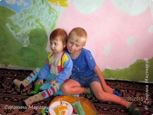 """В детской была просто стена ... Пофантазировала на тему """"Сказочный замок и принцессы"""" ...Закончили рисовать к Новому году, в декабре...а начиналось в сентябре))) фото 6"""