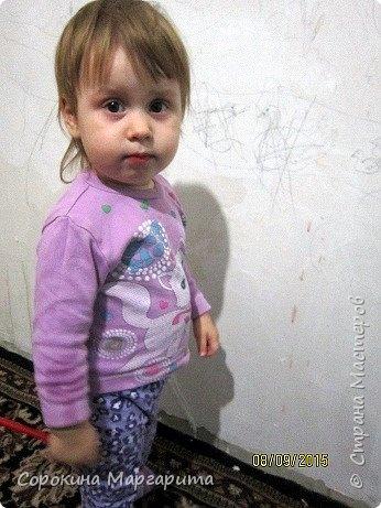 """В детской была просто стена ... Пофантазировала на тему """"Сказочный замок и принцессы"""" ...Закончили рисовать к Новому году, в декабре...а начиналось в сентябре))) фото 7"""