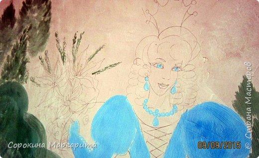 """В детской была просто стена ... Пофантазировала на тему """"Сказочный замок и принцессы"""" ...Закончили рисовать к Новому году, в декабре...а начиналось в сентябре))) фото 10"""