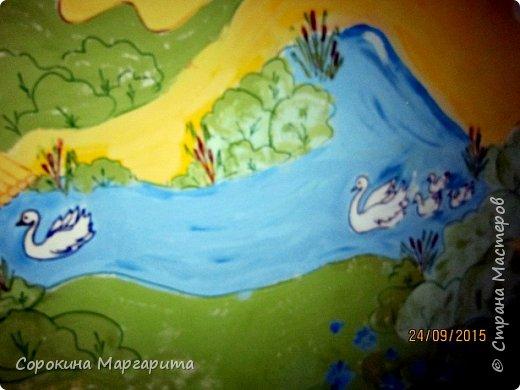 """В детской была просто стена ... Пофантазировала на тему """"Сказочный замок и принцессы"""" ...Закончили рисовать к Новому году, в декабре...а начиналось в сентябре))) фото 9"""