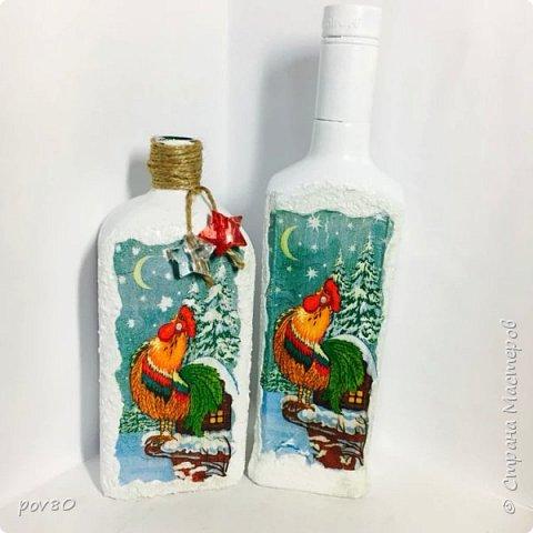 Это мои первые бутылочки в технике декупажа , захотелось их показать фото 4