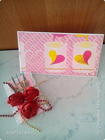 Вот такой свадебный конвертик родился для коллеги. фото 3