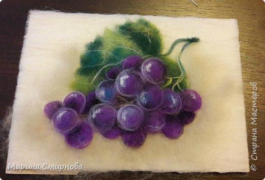 МК. Картина из шерсти Виноград