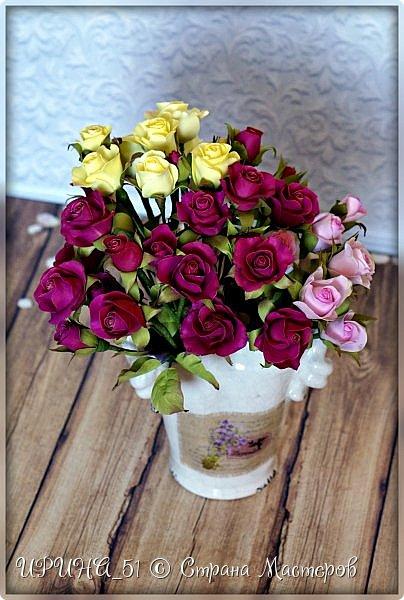 Доброго Всем времени суток!  Кустовые розочки из зефирного фома.  Размер цветочков от 1,5 до 3см в диаметре. Приглашаю к просмотру.  фото 7