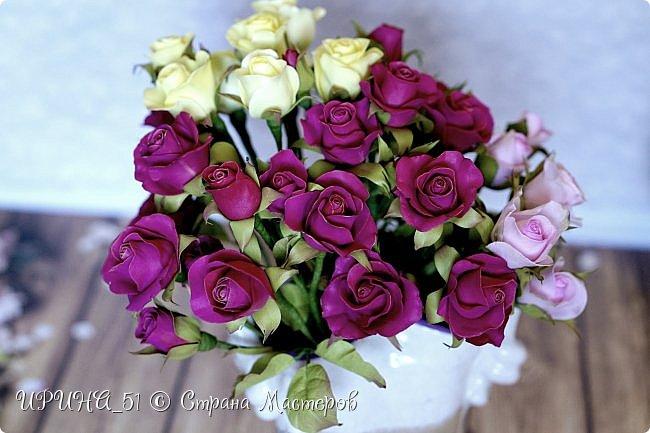 Доброго Всем времени суток!  Кустовые розочки из зефирного фома.  Размер цветочков от 1,5 до 3см в диаметре. Приглашаю к просмотру.  фото 12