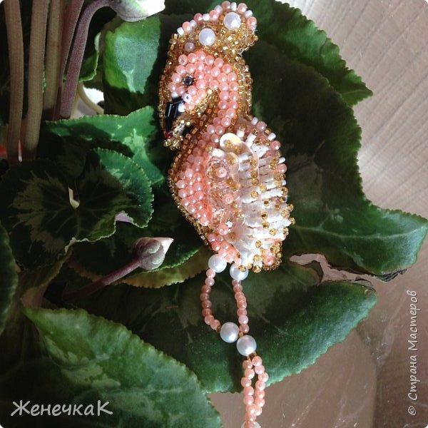 Новая брошечка. Розовый фламинго. фото 1