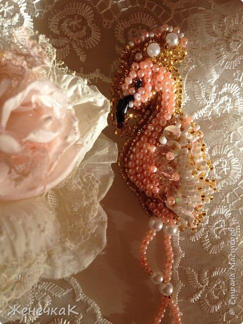 Новая брошечка. Розовый фламинго. фото 3