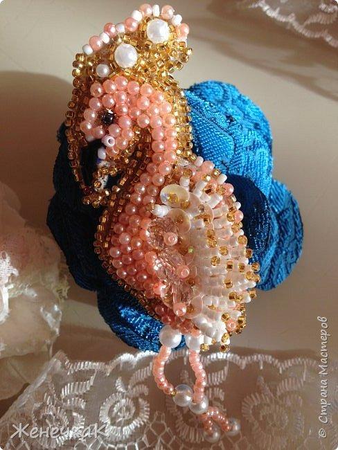 Новая брошечка. Розовый фламинго. фото 4