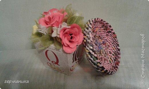 плетение из газетных трубочек фото 1