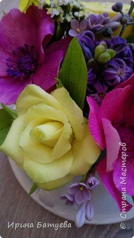 Вот и лимончик пригодился, включила его в эту цветочную композицию. фото 5