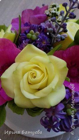 Вот и лимончик пригодился, включила его в эту цветочную композицию. фото 6