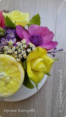 Вот и лимончик пригодился, включила его в эту цветочную композицию. фото 7