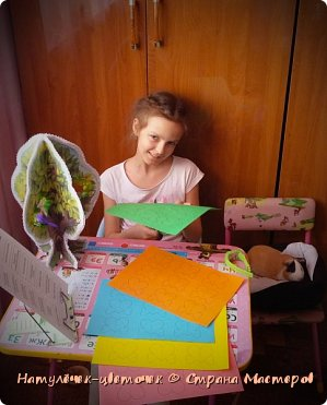 Анечкина поделка в школу.Дерево-времена года. фото 6