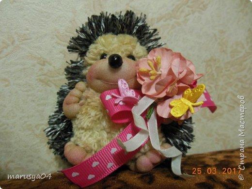 Вот такого ёжика сваяла для подруги на день рожденья!!! Спасибо СвеЛеКе за МК http://stranamasterov.ru/node/1074184?c=favorite фото 1