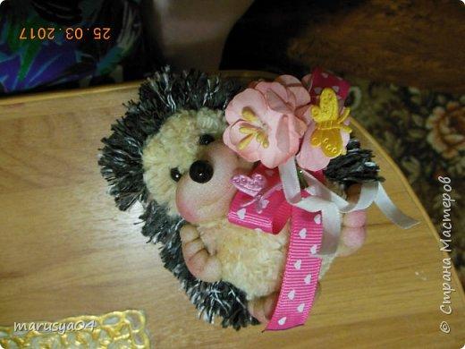 Вот такого ёжика сваяла для подруги на день рожденья!!! Спасибо СвеЛеКе за МК http://stranamasterov.ru/node/1074184?c=favorite фото 2