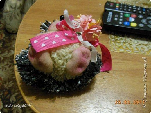 Вот такого ёжика сваяла для подруги на день рожденья!!! Спасибо СвеЛеКе за МК http://stranamasterov.ru/node/1074184?c=favorite фото 3