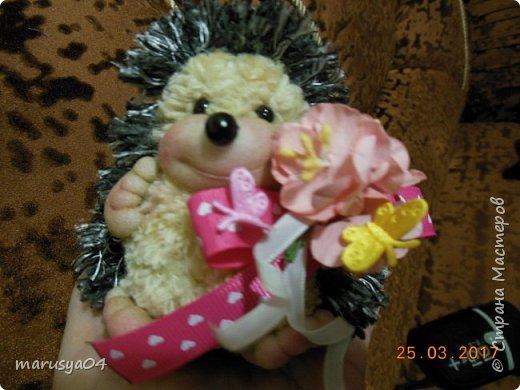 Вот такого ёжика сваяла для подруги на день рожденья!!! Спасибо СвеЛеКе за МК http://stranamasterov.ru/node/1074184?c=favorite фото 4
