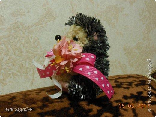Вот такого ёжика сваяла для подруги на день рожденья!!! Спасибо СвеЛеКе за МК http://stranamasterov.ru/node/1074184?c=favorite фото 7