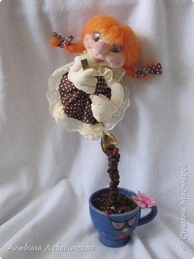Вот кофейная Феечка ,она такая веселуха  рыженькая и любительница кофе.