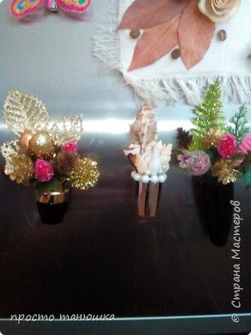 Из использованных тюбиков помад решила сделать миниатюрные букетики- магниты. фото 2