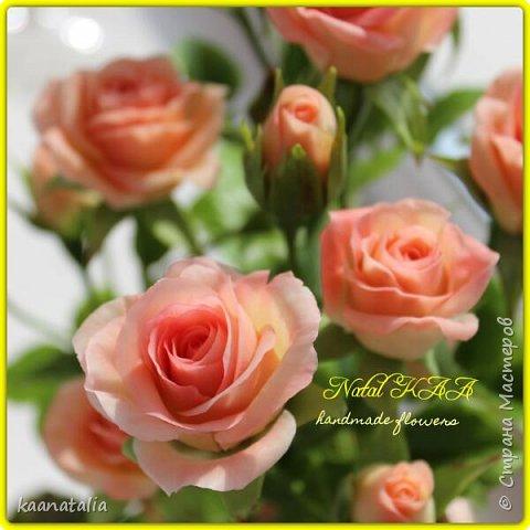 Роза слеплена в подарок. Высота 39 см. фото 1