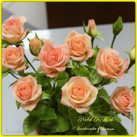 Роза слеплена в подарок. Высота 39 см. фото 4