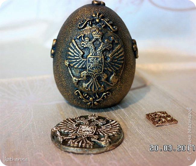 Здравствуй страна . Давно хотела сделать яйцо с российским орлом . Делала самодельные молды , пробовала , красила  , в итоге моих поисков и проб родилось вот такое яичко . фото 2