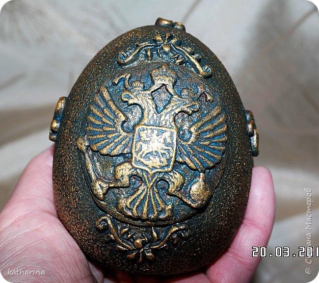 Здравствуй страна . Давно хотела сделать яйцо с российским орлом . Делала самодельные молды , пробовала , красила  , в итоге моих поисков и проб родилось вот такое яичко . фото 6