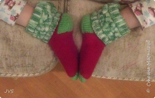 Носочки в подарок гимнастке. После тренировок, на сборах всегда тепло и уютно натруженным ножкам.  фото 3
