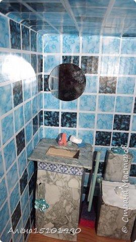 Всем снова привет. Мы с дочкой доделали ванную комнату и решили её показать.Внешней отделкой домика я ещё не занималась,главное было сделать то,что внутри. фото 2