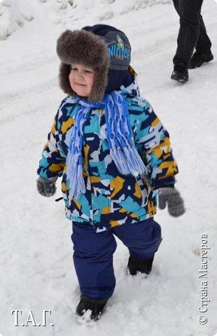 Скоро зима... На улице становится прохладно.  Внуку нужен шарф. фото 16