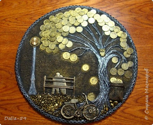 Всем жителям страны,здравствуйте!!!Понравилось мне делать денежные деревья.Здесь  первые (https://stranamasterov.ru/node/1087429).Там есть ссылка на МК и моих вдохновителей. фото 9